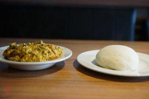 Egusi and Fufu like at African Kitchen Amsterdam