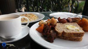 Breakfast at Five to five hotel Kigali